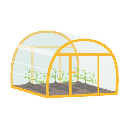 温室、漫画のスタイルで単一のアイコン