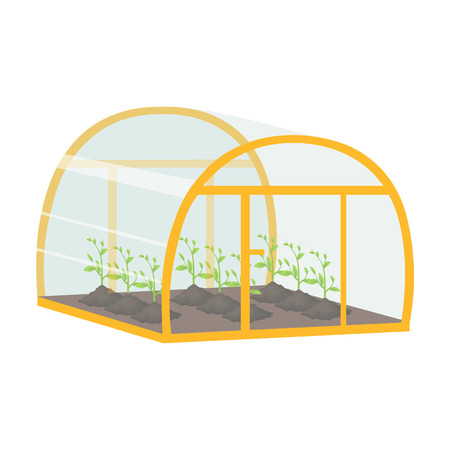Greenhouse, single icon in cartoon style 向量圖像