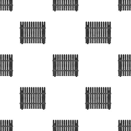 palisade: A wooden fence seamless pattern