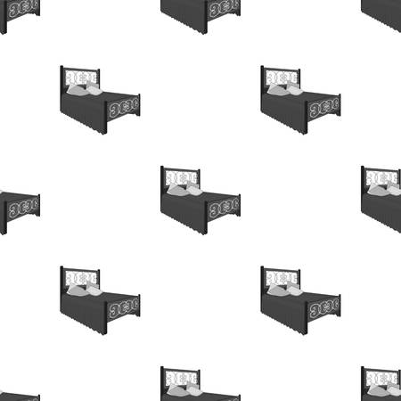 Bed seamless pattern