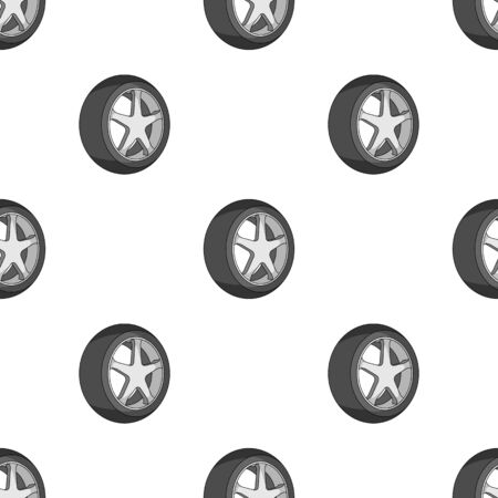 rim: Wheel with a tire cover for the car.Car single icon in monochrome style vector symbol stock illustration .