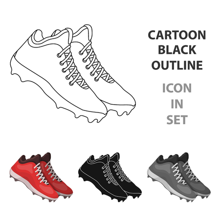 Baseball Sneakers icon in cartoon style vector symbol stock illustration web.