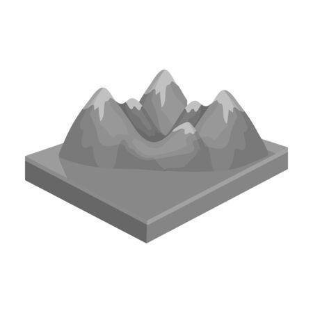 Mountains vector icon Иллюстрация