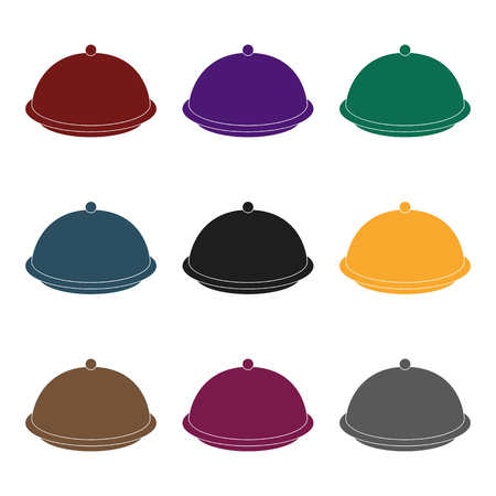 Cloche icon in black style isolated on white background. Hotel symbol vector illustration.