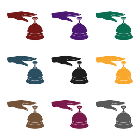 Reception bell icon in black style isolated on white background. Hotel symbol vector illustration. Illustration