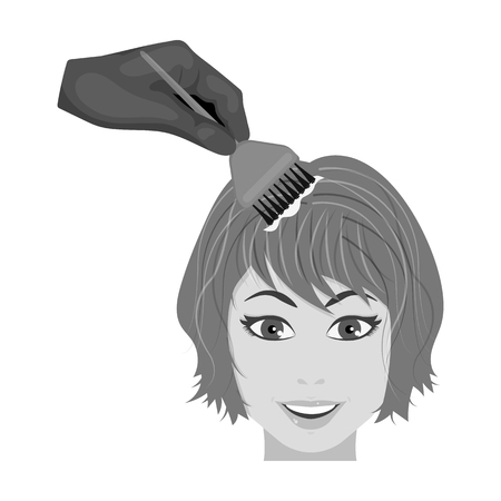 Staining of female hair stock illustration Illustration