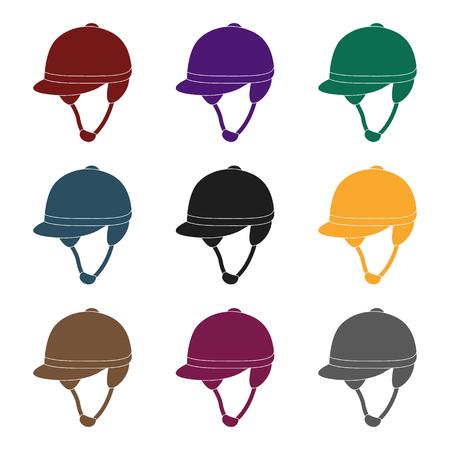 Jockeys helmet icon