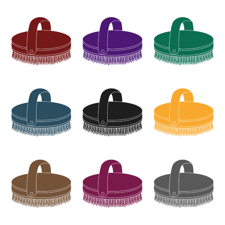 Horse body brush icons