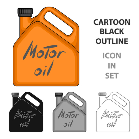 Can of engine oil icon in cartoon style vector symbol stock illustration