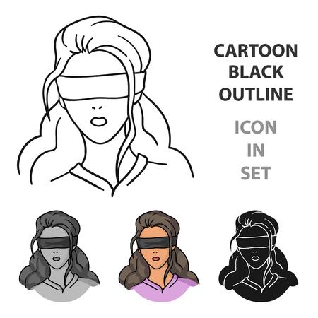 Hostage icon in cartoon style Illustration