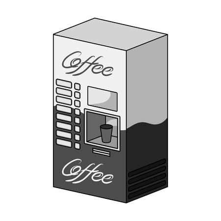 Terminal, preparation of various types of coffee. Terminals single icon in monochrome style isometric vector symbol stock illustration .
