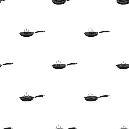 Frying pan, single icon in black style.Frying pan vector symbol stock illustration web.