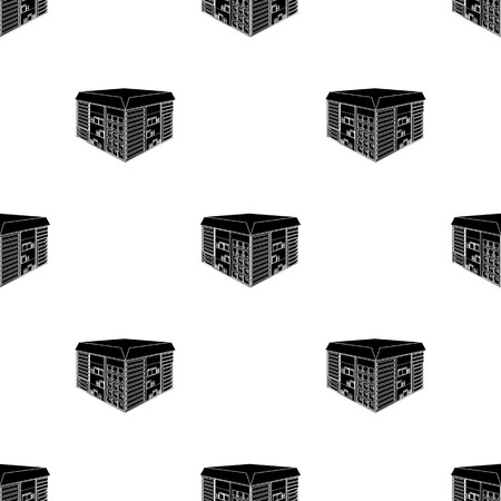 Warehouse space. Logistics and delivery single icon in black style isometric vector symbol stock illustration web. Иллюстрация
