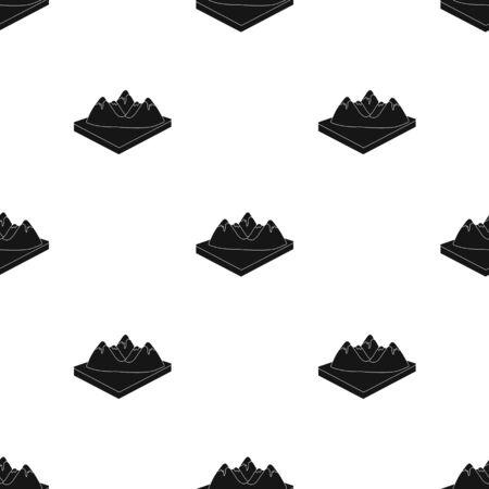 Mountains, rocks and landscape. Relief and mountains single icon in black style isometric vector symbol stock illustration web. Иллюстрация