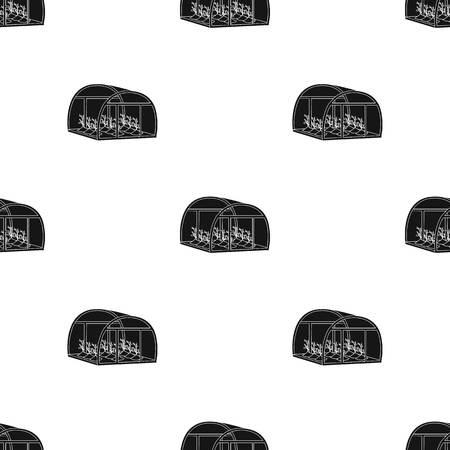 Greenhouse, single icon in black style .Greenhouse, vector symbol stock illustration web. Illustration