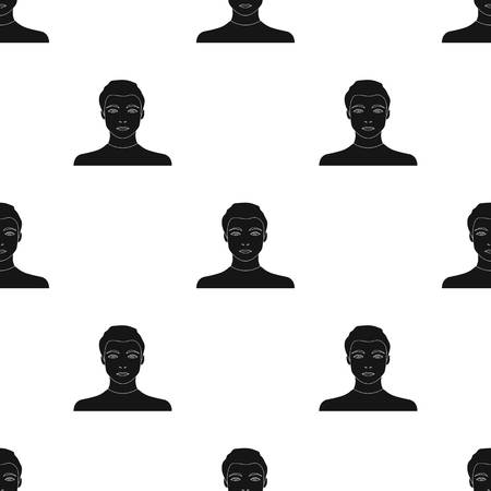 The face of a young guy. Face and appearance single icon in black style vector symbol stock illustration web.