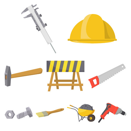 bolts and nuts: Build and repair set icons in cartoon style. Big collection of build and repair vector symbol stock illustration