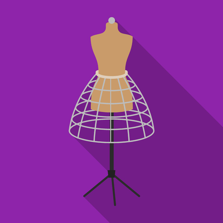 Equipment, mannequin for sewing womens clothing. Sewing and equipment single icon in flat style vector symbol stock illustration . Illustration