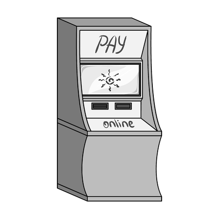checking account: Terminal for various types of payment. Terminals single icon in monochrome style isometric vector symbol stock illustration . Illustration