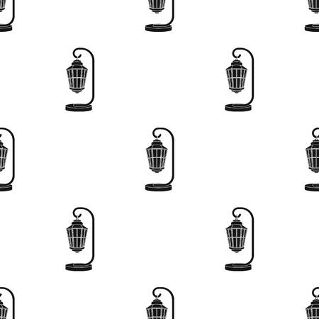 Street lights in retro style. Lamppost single icon in black style vector symbol stock illustration web.