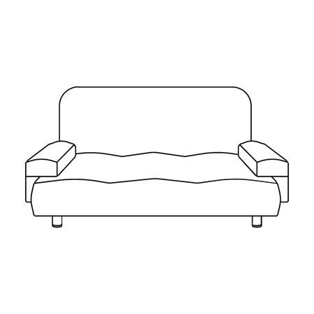 house logo: Soft, stylish and comfortable sofa. Furniture single icon in outline style Isometric vector symbol stock illustration .