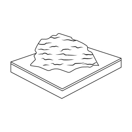Mountains, rocks and landscape. Relief and mountains single icon in outline style isometric vector symbol stock illustration . Illusztráció