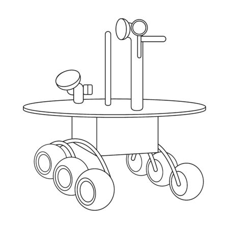 moon rover: The spacecraft, Lunokhod. Space technology single icon in outline style vector symbol stock illustration .