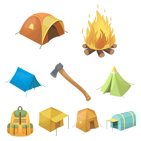 Various Kinds Of Tents And Other Tourist Accessories. The Tent.. Royalty Free Cliparts Vectors And Stock Illustration. Image 85269472.  sc 1 st  123RF Stock Photos & Various Kinds Of Tents And Other Tourist Accessories. The Tent ...