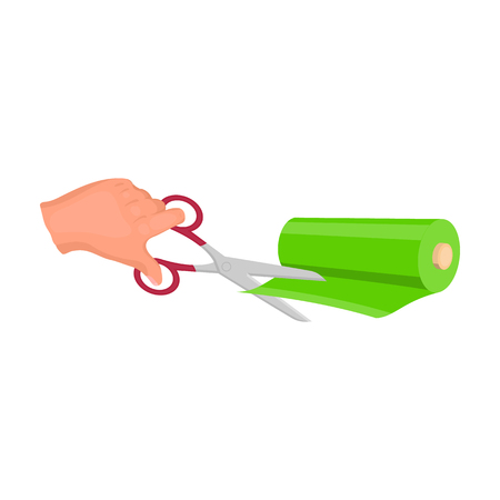 Cutting scissors for sewing fabrics. Sewing and equipment single icon in cartoon style vector symbol stock illustration web. Vectores