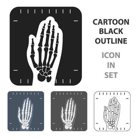 X-ray hand icon cartoon. Single medicine icon from the big medical, healthcare cartoon.