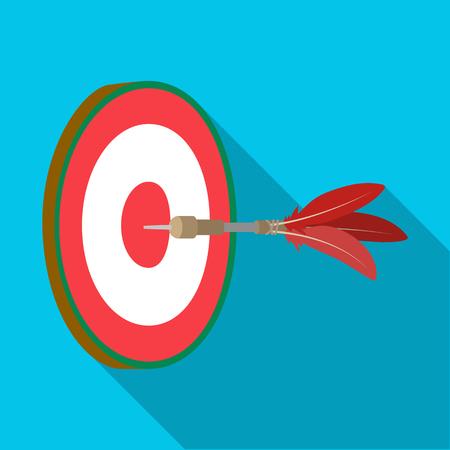 Dart arrow and board icon.