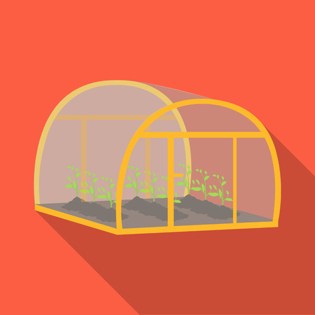 the greenhouse effect: Greenhouse, single icon in flat style .Greenhouse, vector symbol stock illustration . Illustration