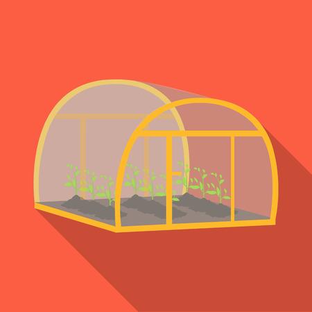 Greenhouse, single icon in flat style .Greenhouse, vector symbol stock illustration . Illustration