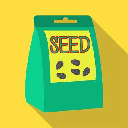 種子、単一フラット スタイルのアイコン。種子、ベクター シンボル ストック イラスト。