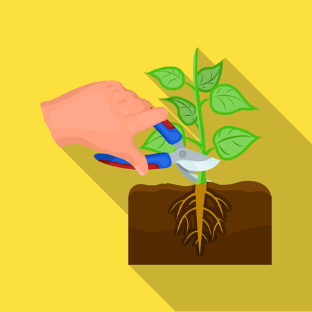 Plants, single icon in flat style .Plants, vector symbol stock illustration .