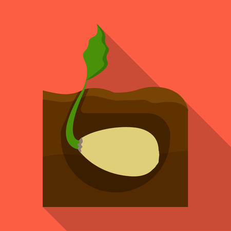 peasant: Root, single icon in flat style .Root vector symbol stock illustration .