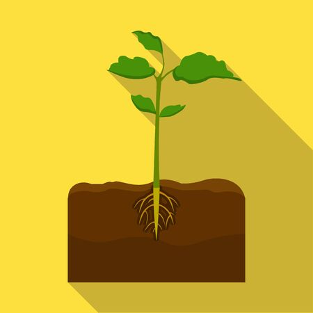 Planten enkel pictogram in vlakke stijl. Planten, vector symbool stock illustratie.