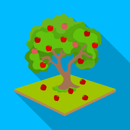 Fruit tree vector symbol stock illustration
