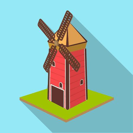 Windmill vector symbol stock illustration Illustration