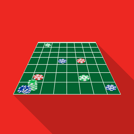 Casino table single icon in flat style