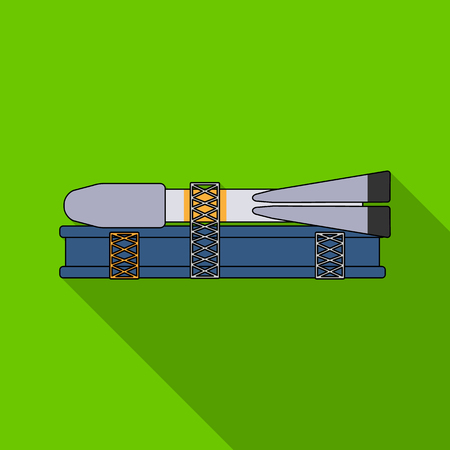 Preparation of space technology for launch. Space technology single icon in flat style vector symbol stock illustration .