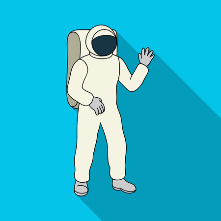 Cosmic space suit. Space technology single icon in flat style vector symbol stock illustration . Illustration