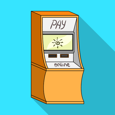 checking accounts: Terminal for various types of payment. Terminals single icon in flat style isometric vector symbol stock illustration .