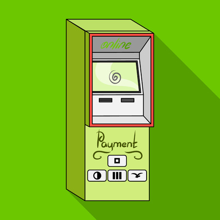 checking account: Terminal for various types of payment. Terminals single icon in flat style isometric vector symbol stock illustration .