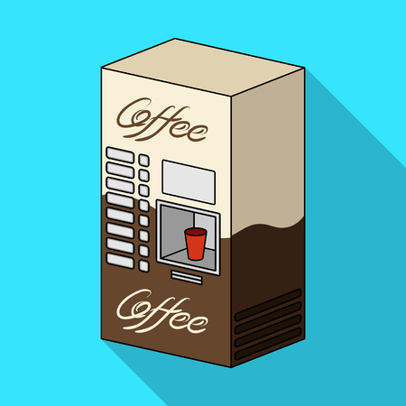 Various types of coffee vendo machine. Terminals single icon in flat style isometric vector symbol stock illustration .
