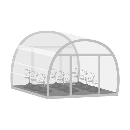 Greenhouse, single icon in monochrome style .Greenhouse, vector symbol stock illustration web.
