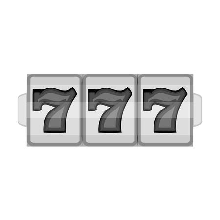 Game single icon in monochrome style.Game, vector symbol stock illustration web.