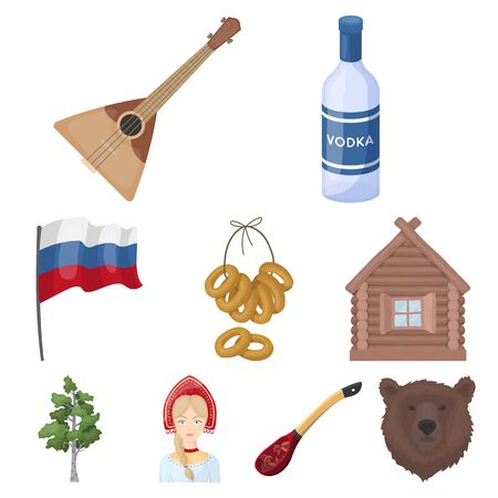 Big collection of Russia country symbol stock illustration Illustration