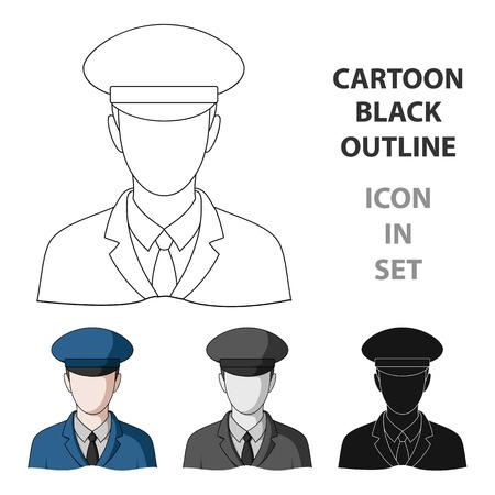 Postman.Mail and postman single icon in cartoon style vector symbol stock illustration . Illustration
