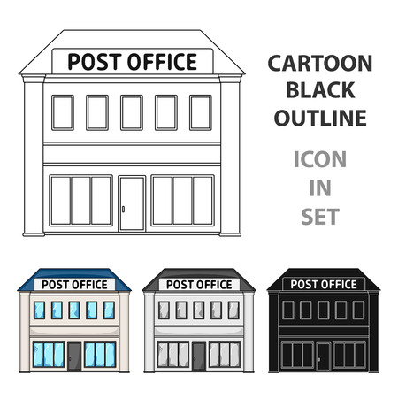 front desk: Post office.Mail and postman single icon in cartoon style vector symbol stock illustration .